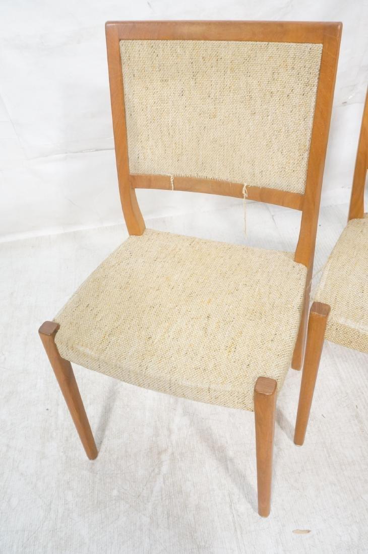 Set 4 Danish Modern Teak Dining Chairs. SVEYARDS. - 4