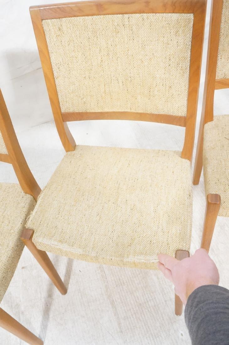 Set 4 Danish Modern Teak Dining Chairs. SVEYARDS. - 6