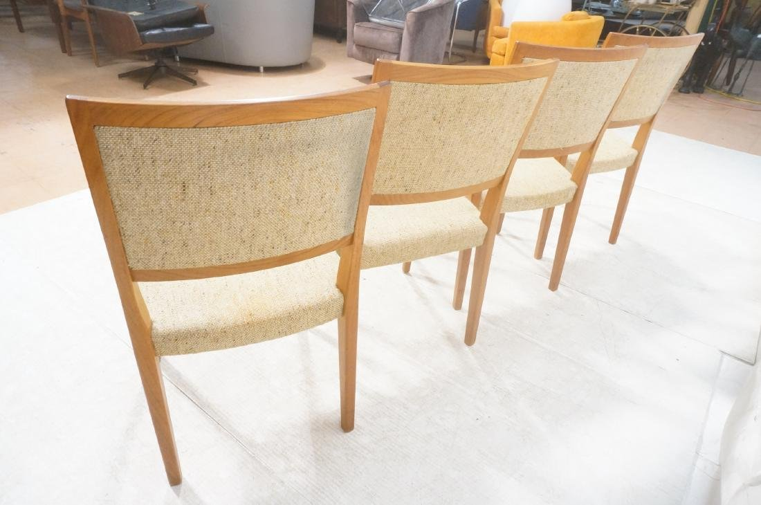 Set 4 Danish Modern Teak Dining Chairs. SVEYARDS. - 9