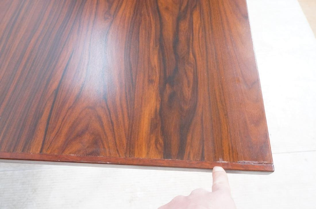 Rosewood Danish Modern Dining Table. Square wood - 10