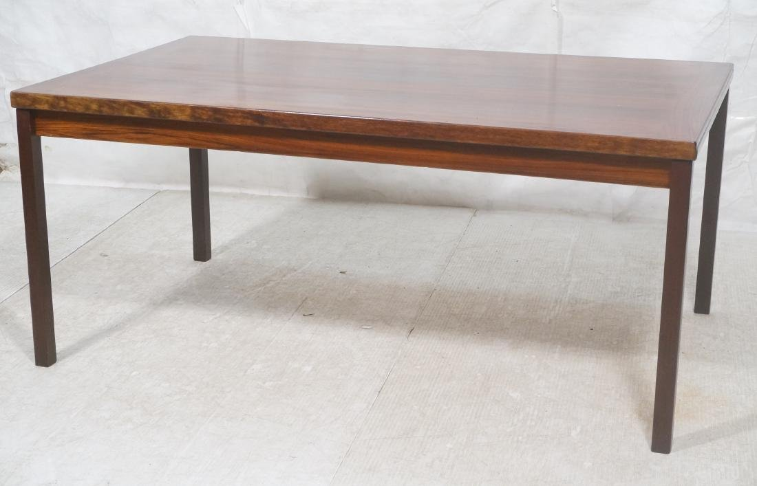 Rosewood Danish Modern Dining Table. Square wood