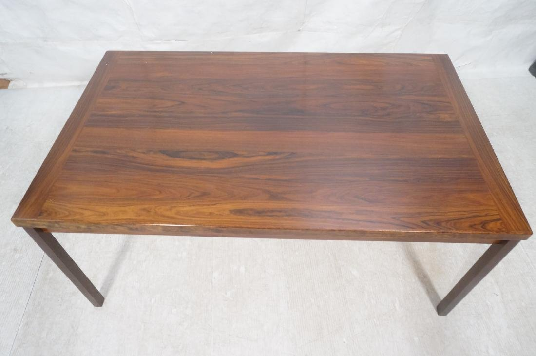 Rosewood Danish Modern Dining Table. Square wood - 3