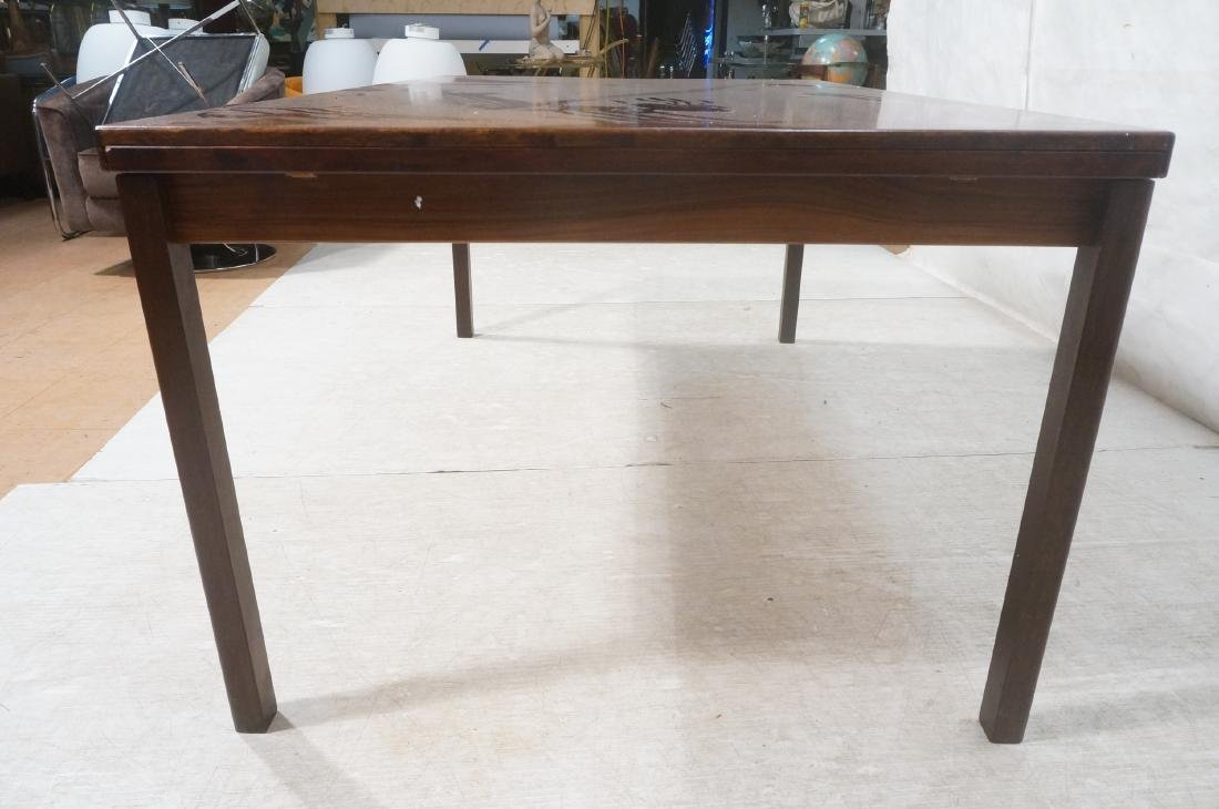 Rosewood Danish Modern Dining Table. Square wood - 4