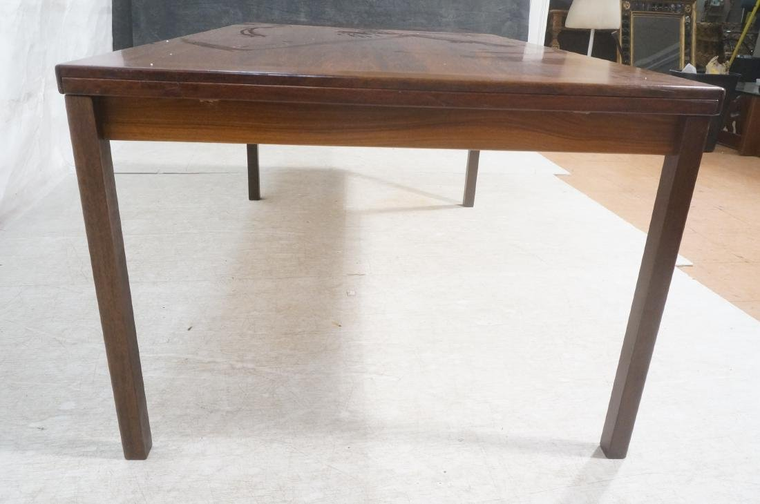 Rosewood Danish Modern Dining Table. Square wood - 6