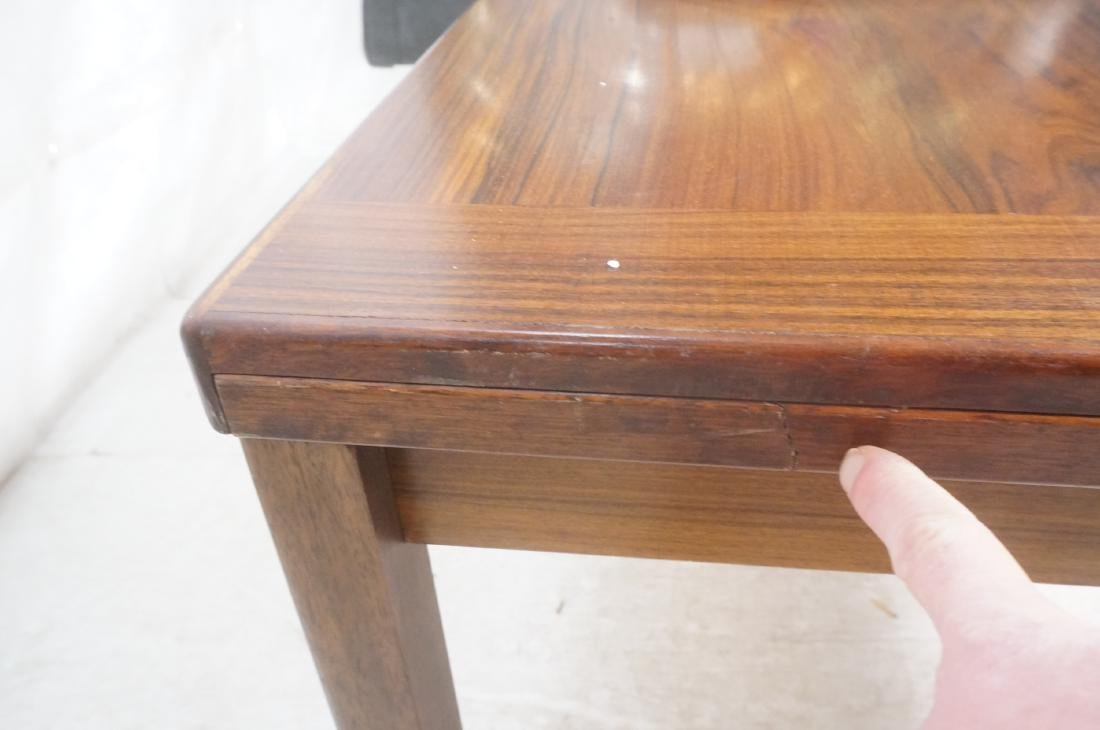 Rosewood Danish Modern Dining Table. Square wood - 7