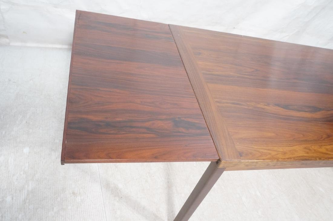 Rosewood Danish Modern Dining Table. Square wood - 9
