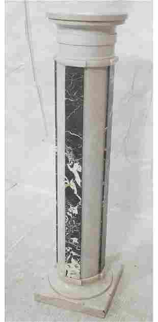 3 part Marble Column Display Pedestal Tall colum