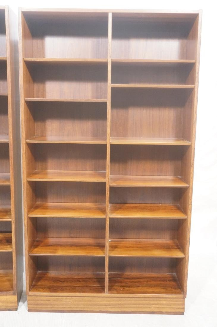 2 Danish Modern Rosewood  Tall Bookcases on Platf - 2