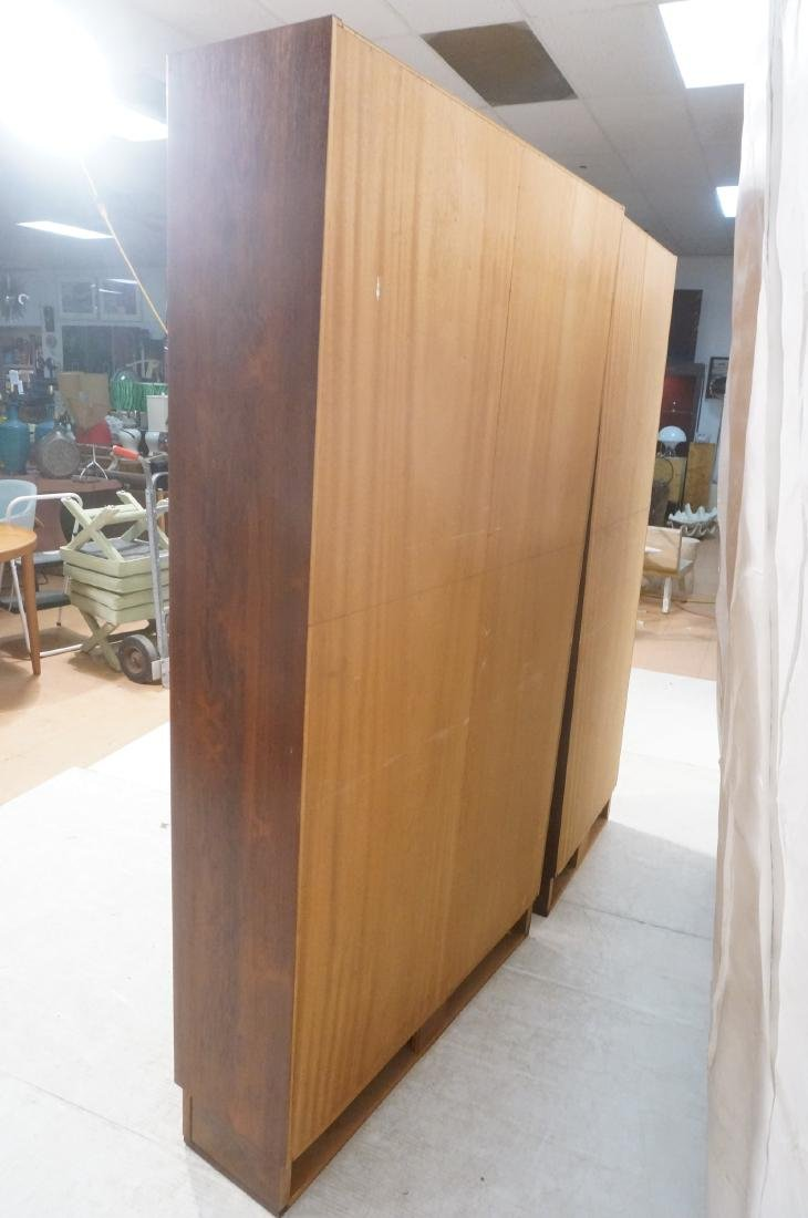 2 Danish Modern Rosewood  Tall Bookcases on Platf - 6