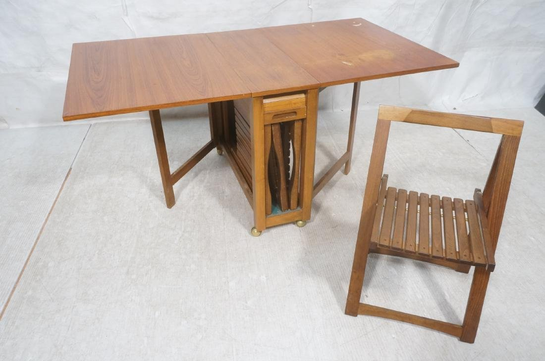 Modernist Drop side Portable Dining Table & Chair - 7