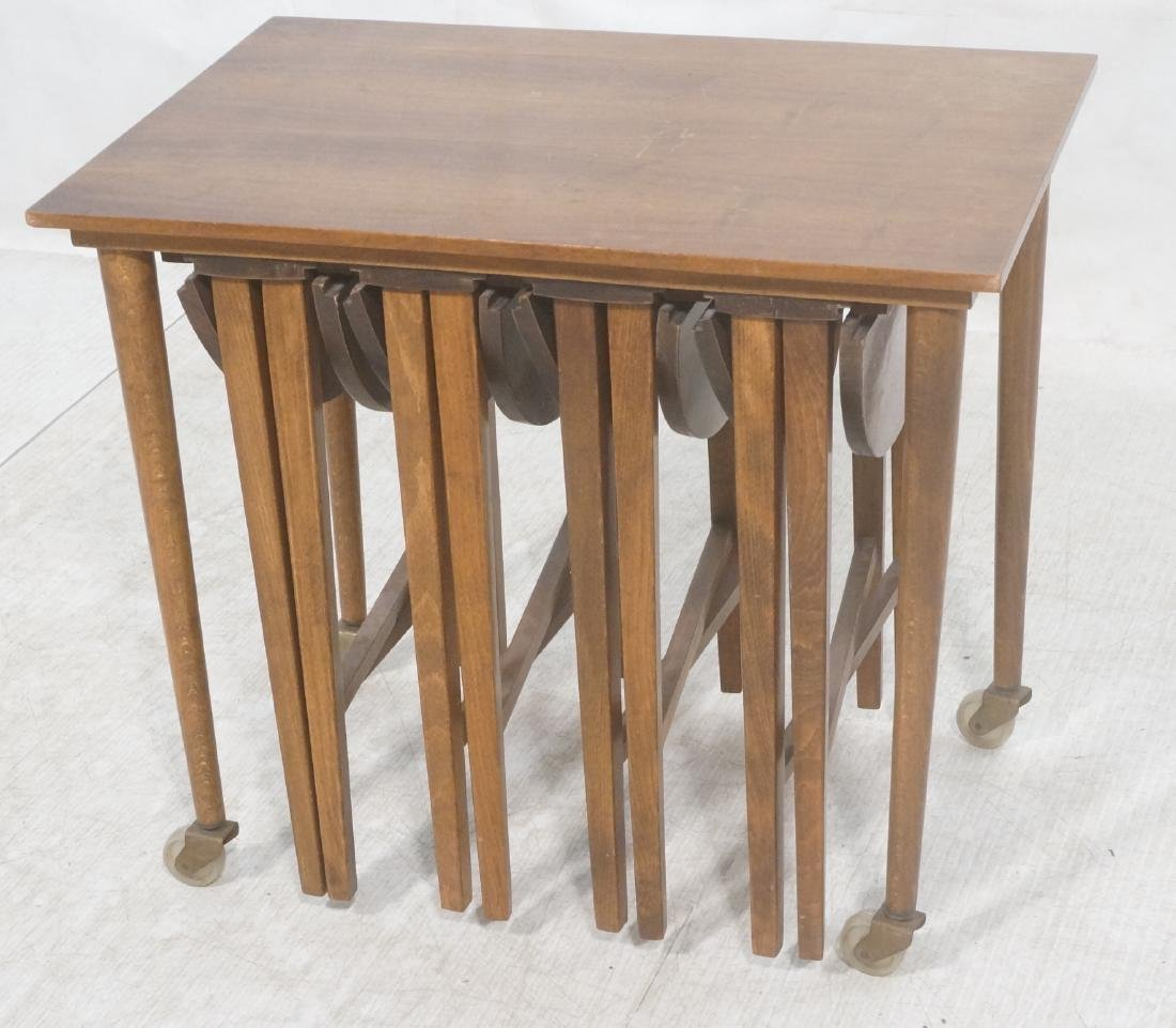 Side End Table w 4 Nesting Tables. Rectangular ta