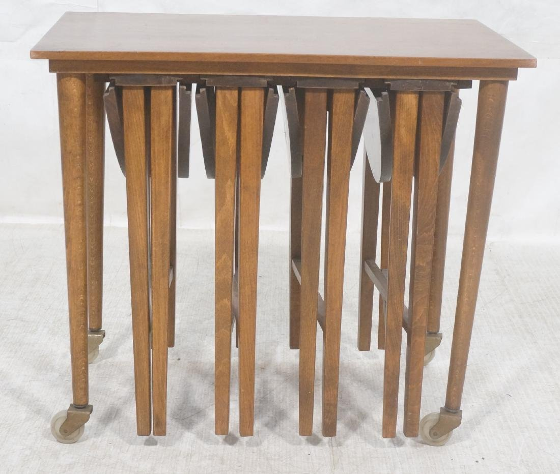 Side End Table w 4 Nesting Tables. Rectangular ta - 2