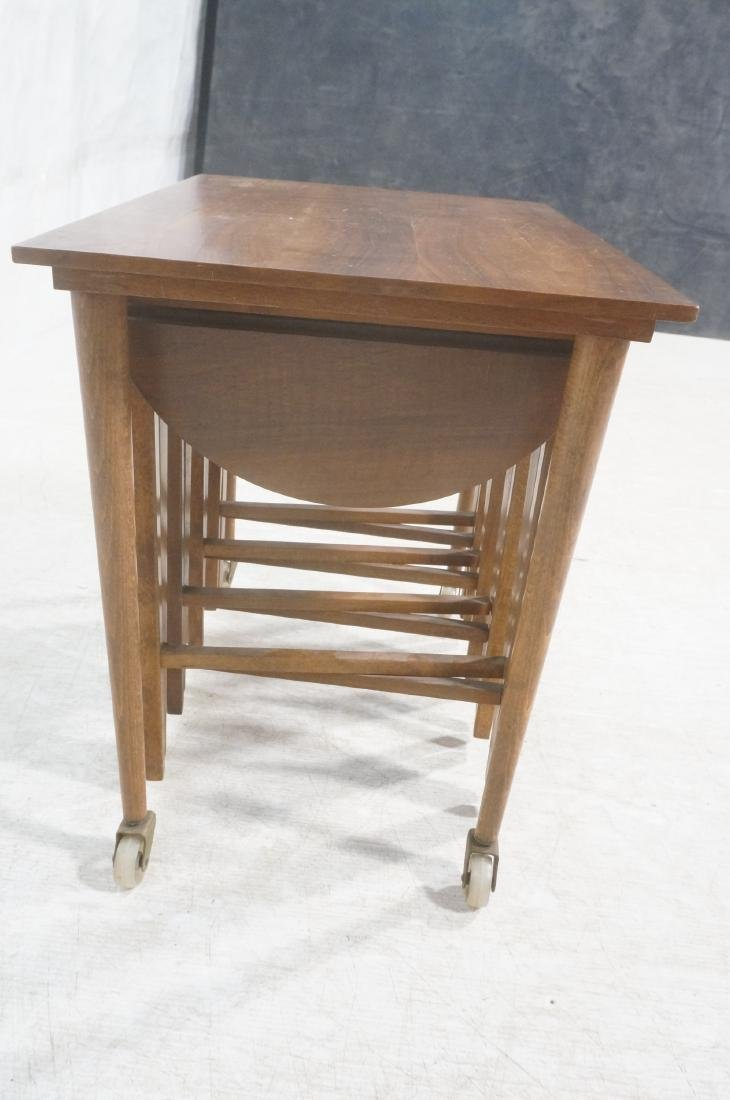 Side End Table w 4 Nesting Tables. Rectangular ta - 4