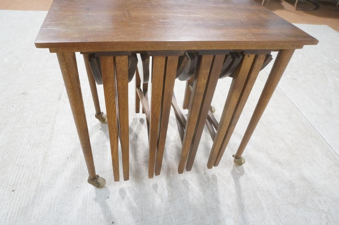 Side End Table w 4 Nesting Tables. Rectangular ta - 5