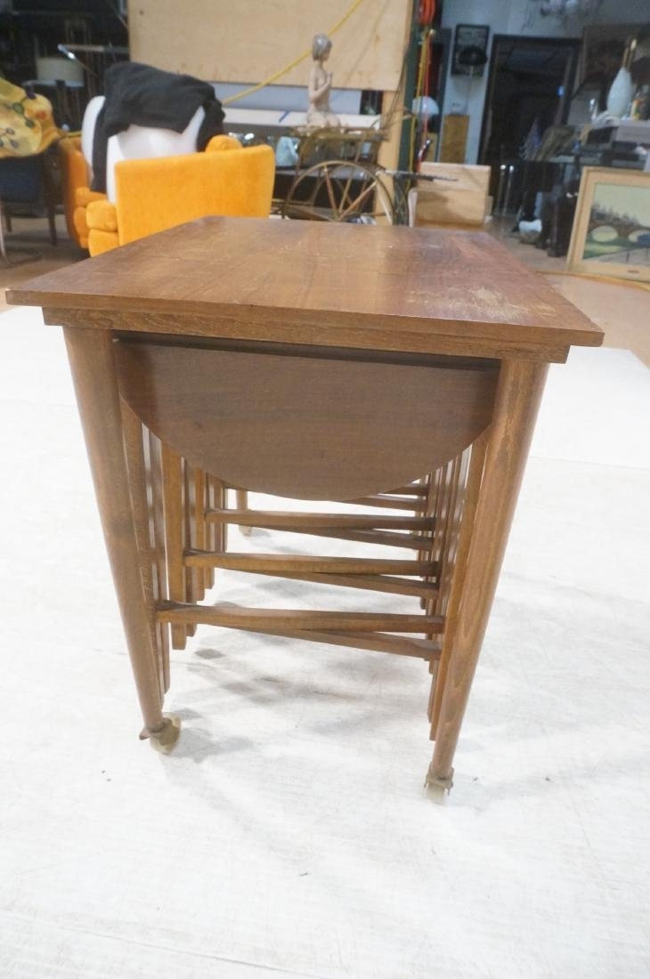 Side End Table w 4 Nesting Tables. Rectangular ta - 6
