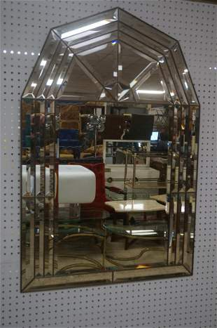 Modernist Wall Mirror Beveled mirror panels in l