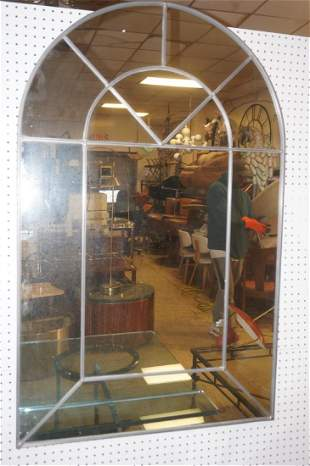 Leaded Frame Wall Mirror Arched Top Carvers Guil