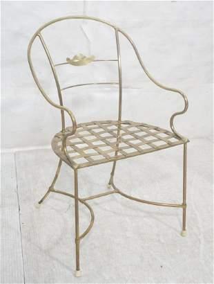 Heavy Brass Tube Frame Modernist Chair Curve lin
