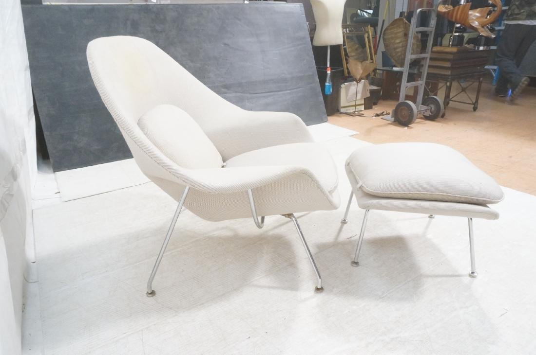 Chrome Frame Upholstered Womb Lounge Chair & Otto - 5