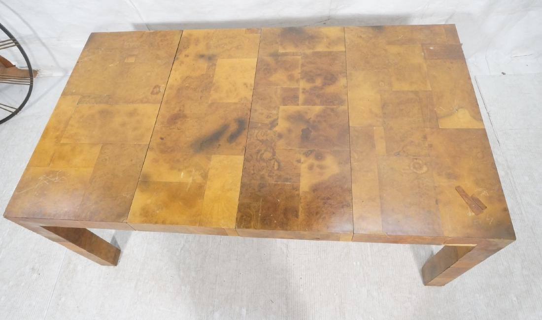 Paul Evans Attributed Patchwork Dining Table. Bur - 10