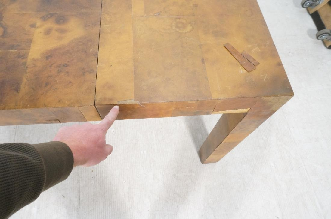 Paul Evans Attributed Patchwork Dining Table. Bur - 4