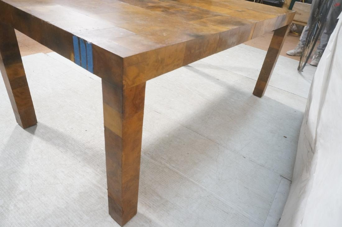 Paul Evans Attributed Patchwork Dining Table. Bur - 8