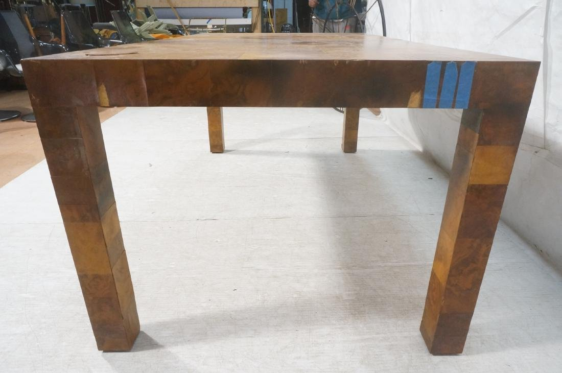 Paul Evans Attributed Patchwork Dining Table. Bur - 9