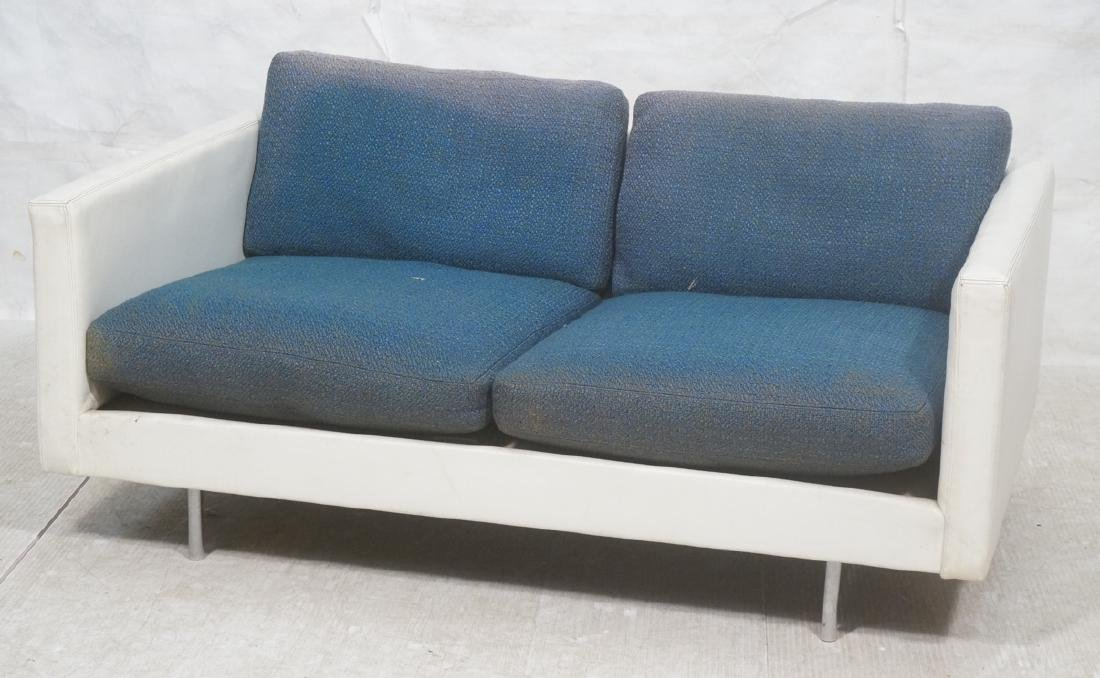 Thayer Coggin Milo Baughman Loveseat Sofa. White