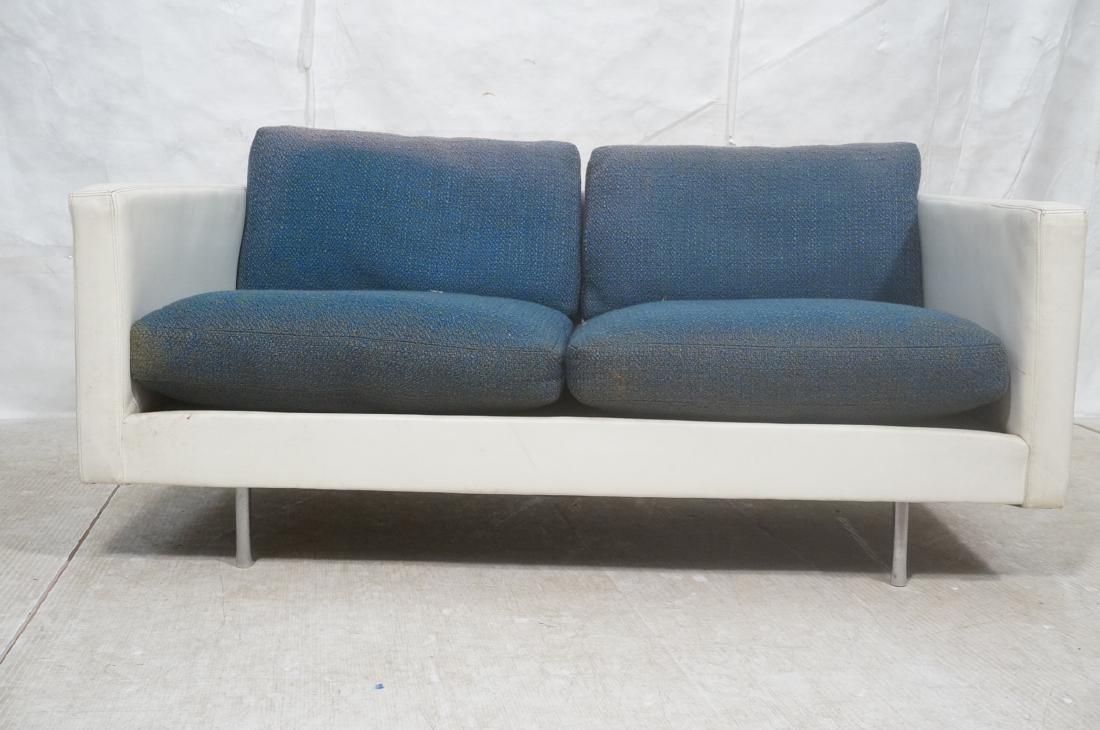 Thayer Coggin Milo Baughman Loveseat Sofa. White - 2