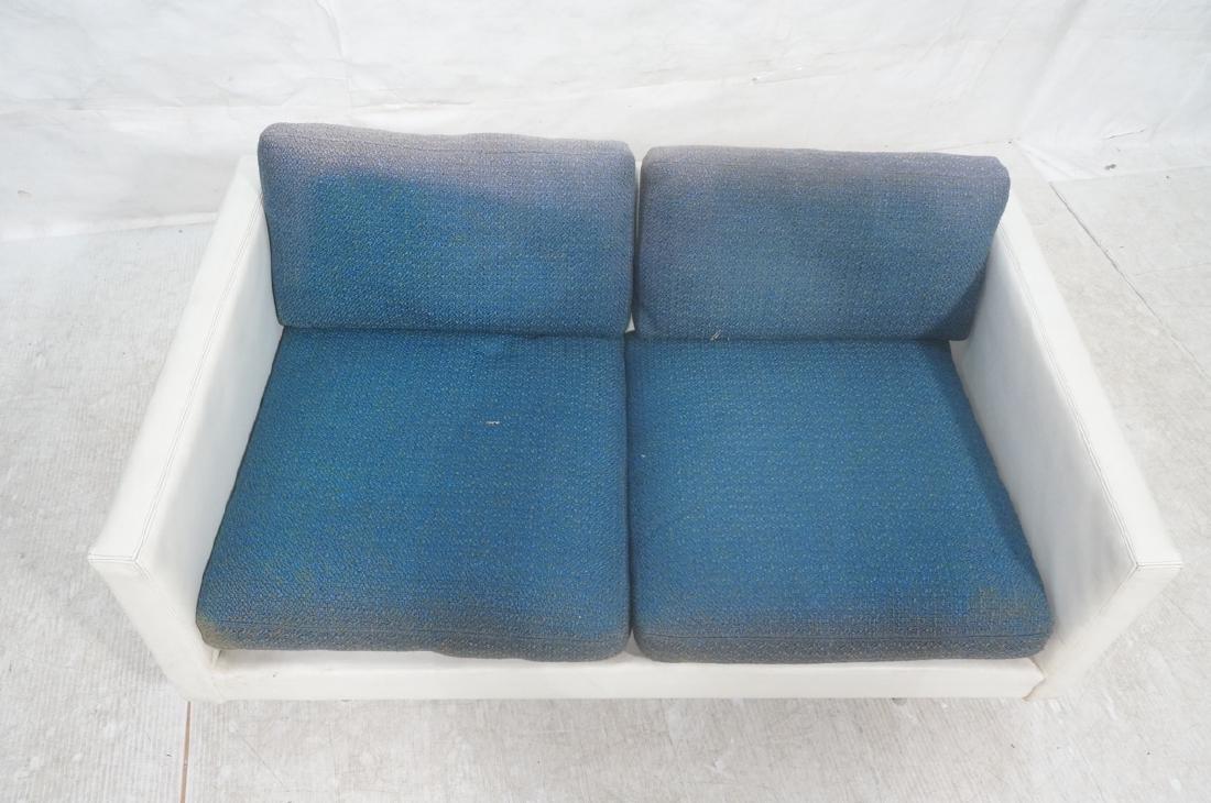 Thayer Coggin Milo Baughman Loveseat Sofa. White - 3