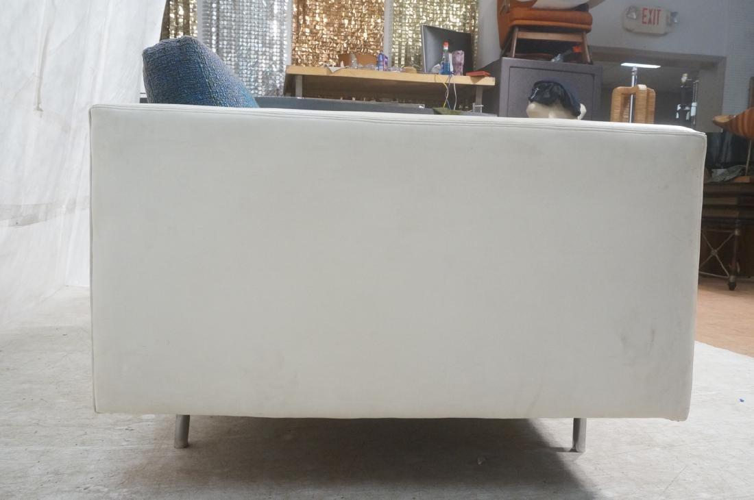 Thayer Coggin Milo Baughman Loveseat Sofa. White - 4
