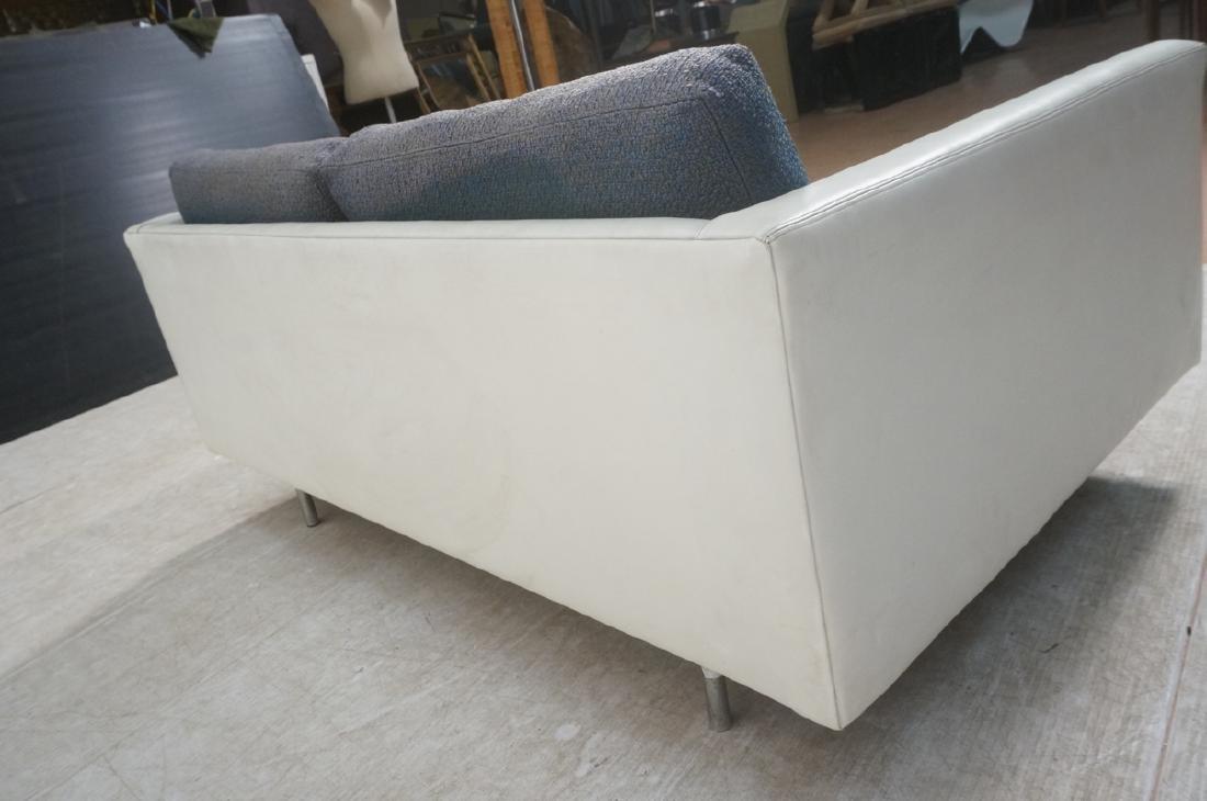 Thayer Coggin Milo Baughman Loveseat Sofa. White - 5