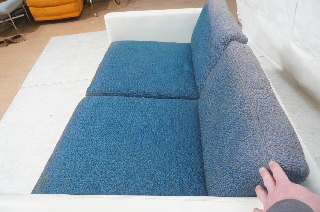 Thayer Coggin Milo Baughman Loveseat Sofa. White - 8