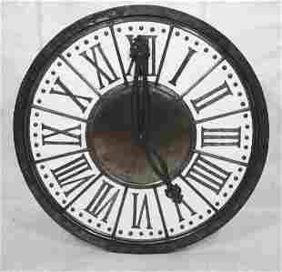 Oversized Decorator Wall Clock Wall Art Black fr