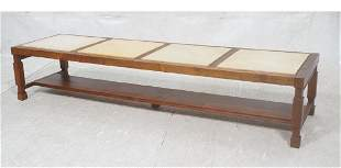 Brown Saltman American Modern Walnut Coffee Table