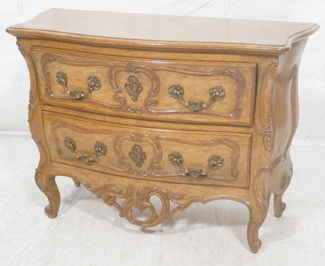 Decorator Antique Style Bombe Chest Commode. Serp