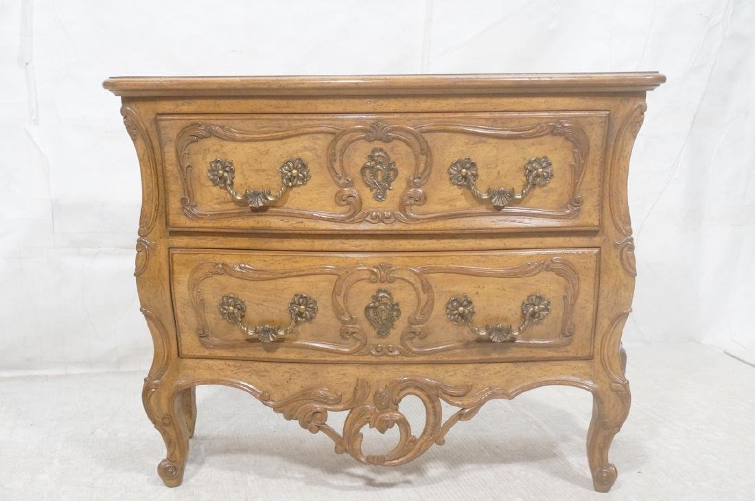 Decorator Antique Style Bombe Chest Commode. Serp - 2