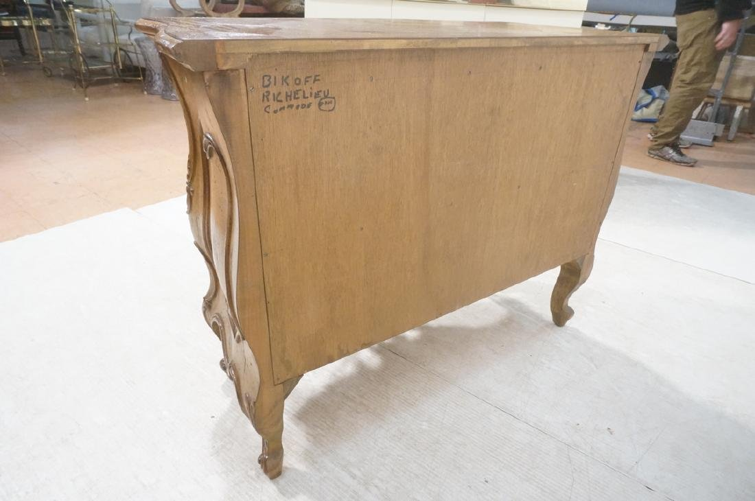 Decorator Antique Style Bombe Chest Commode. Serp - 6