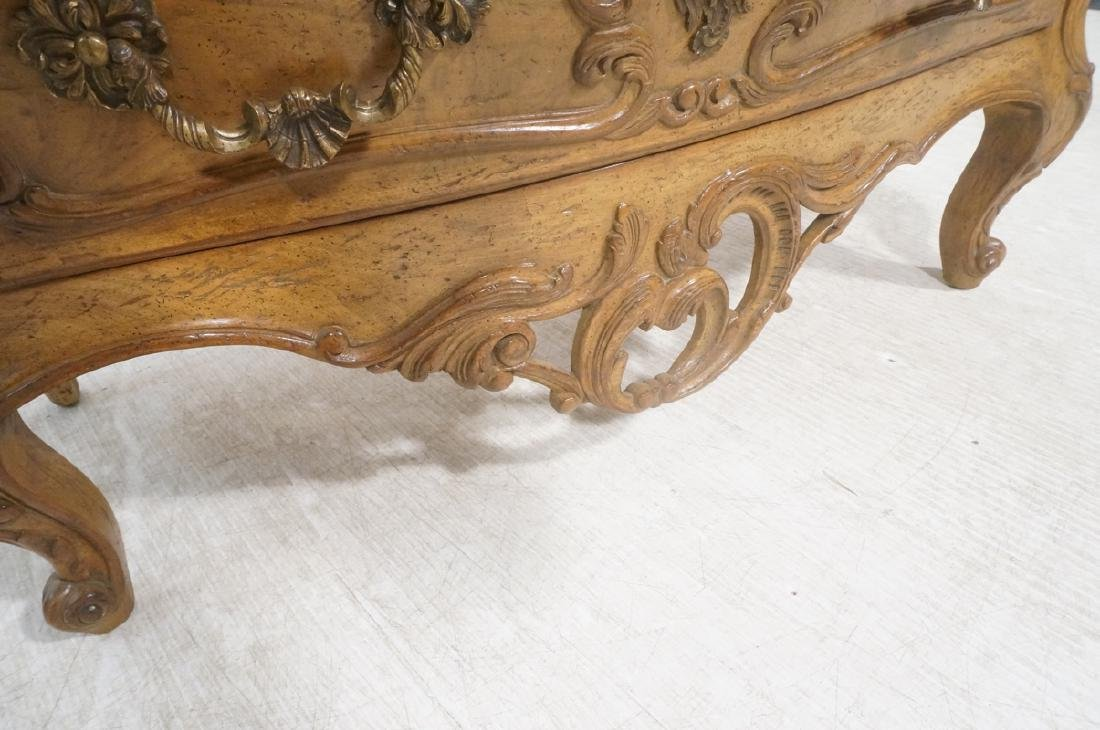 Decorator Antique Style Bombe Chest Commode. Serp - 9