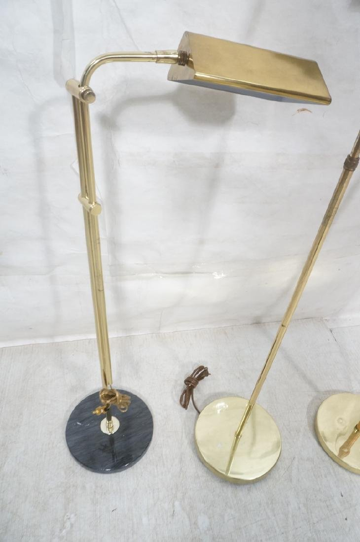 3 Modernist Brass Floor Lamps. Crespi style and 2 - 2