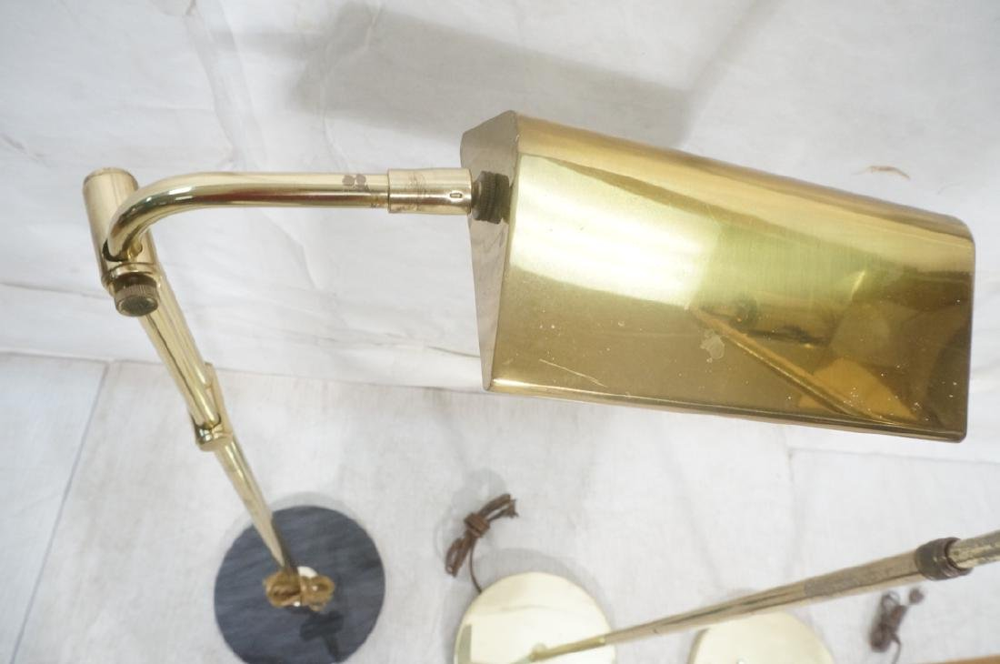 3 Modernist Brass Floor Lamps. Crespi style and 2 - 3