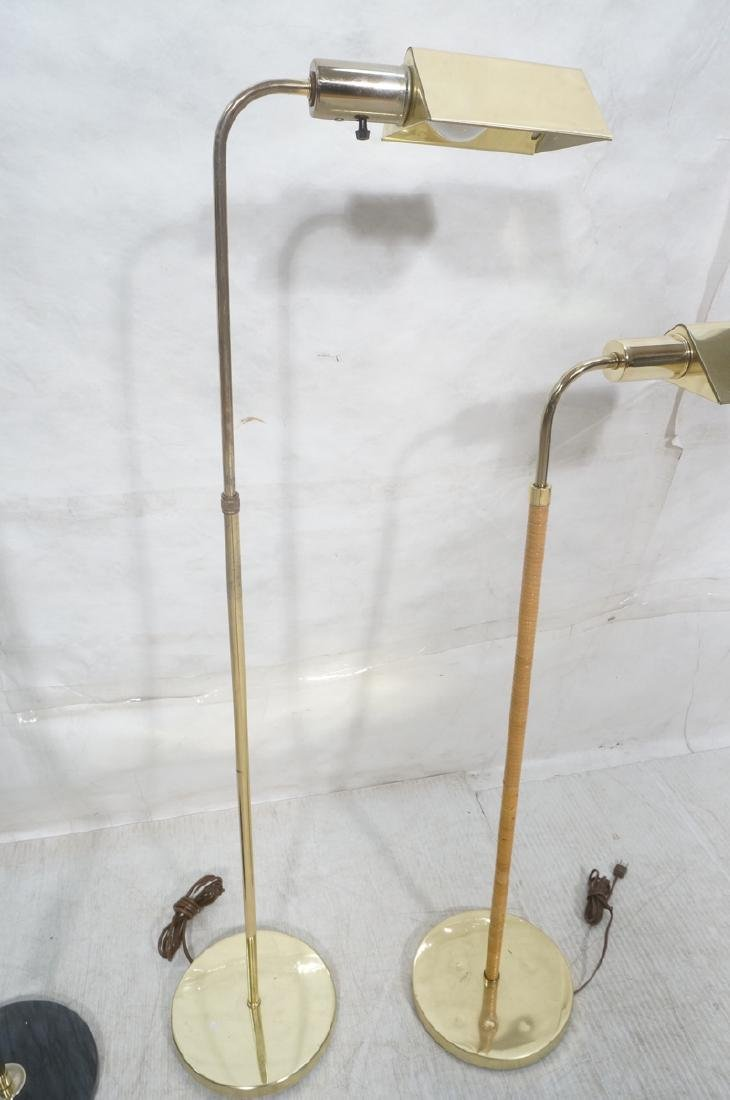 3 Modernist Brass Floor Lamps. Crespi style and 2 - 5