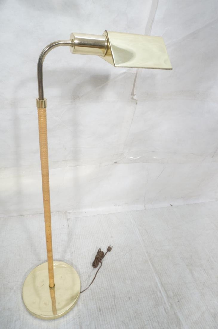 3 Modernist Brass Floor Lamps. Crespi style and 2 - 8