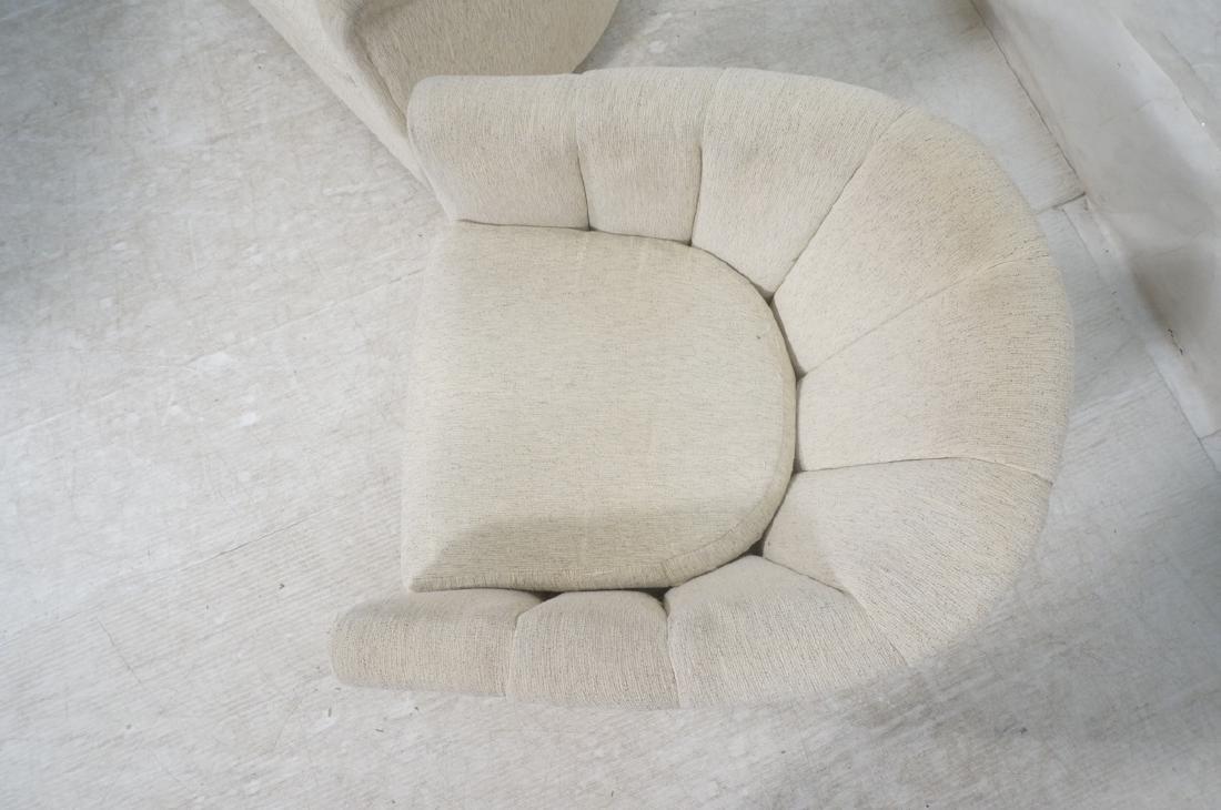 Pr PRECEDENT Barrel Back Upholstered Lounge Chair - 10