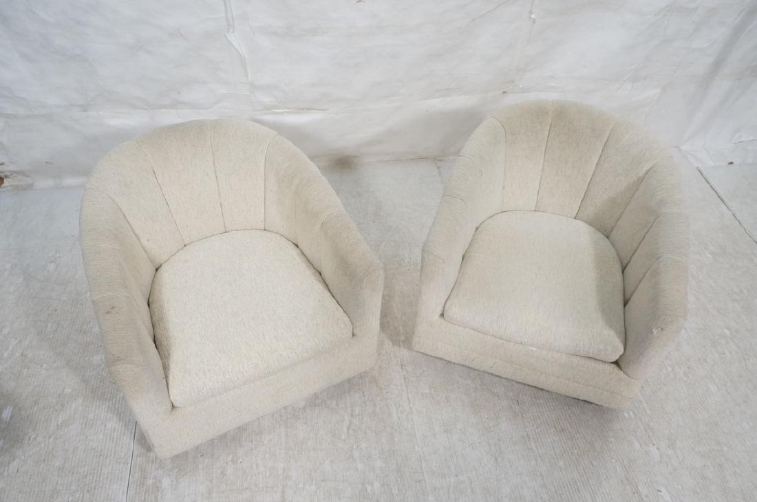 Pr PRECEDENT Barrel Back Upholstered Lounge Chair - 3