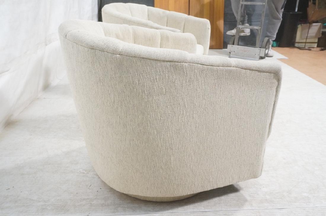 Pr PRECEDENT Barrel Back Upholstered Lounge Chair - 6