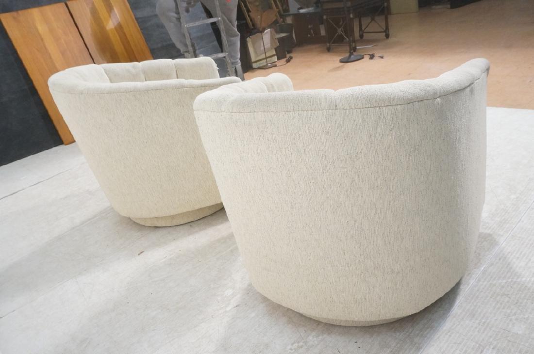 Pr PRECEDENT Barrel Back Upholstered Lounge Chair - 7