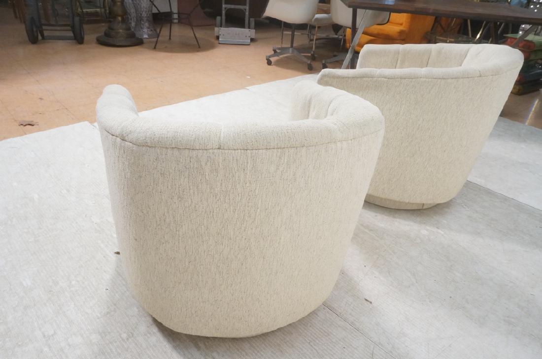 Pr PRECEDENT Barrel Back Upholstered Lounge Chair - 8