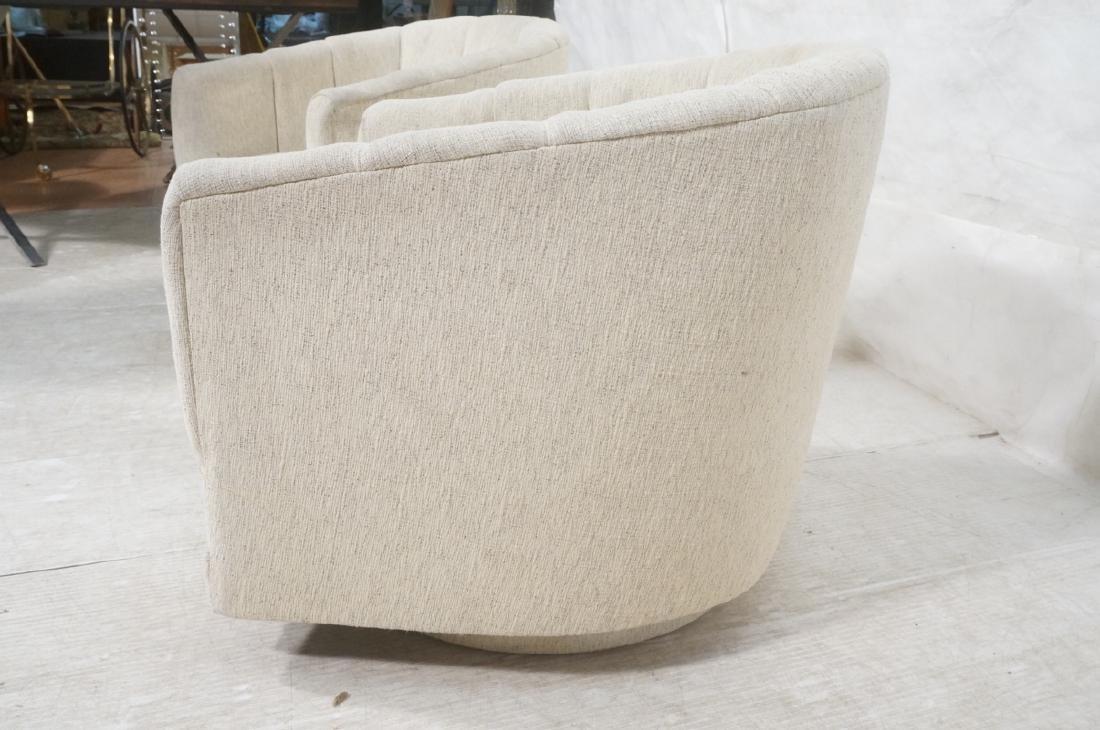 Pr PRECEDENT Barrel Back Upholstered Lounge Chair - 9