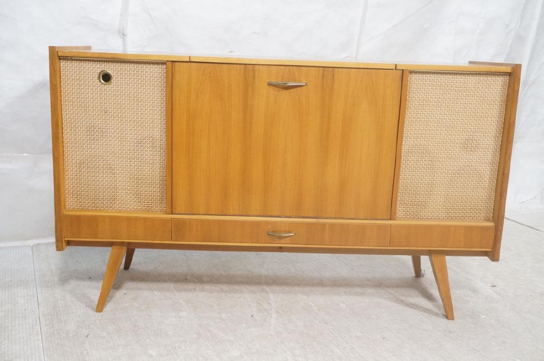Mid Century Modern Blond Wood Stereo Cabinet. Two - 2